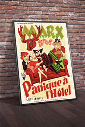 Marx Bros Room Service 1938 French Grande Movie Poster Framed