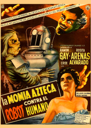 Robot Vs  The Aztec Mummy 1958 Mexican Movie Poster