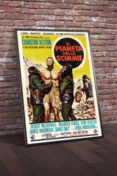 Planet Of The Apes 1968 Italian Movie Poster Framed