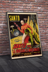 Santo Vs Invasion 1967 Mexican Movie Poster Framed