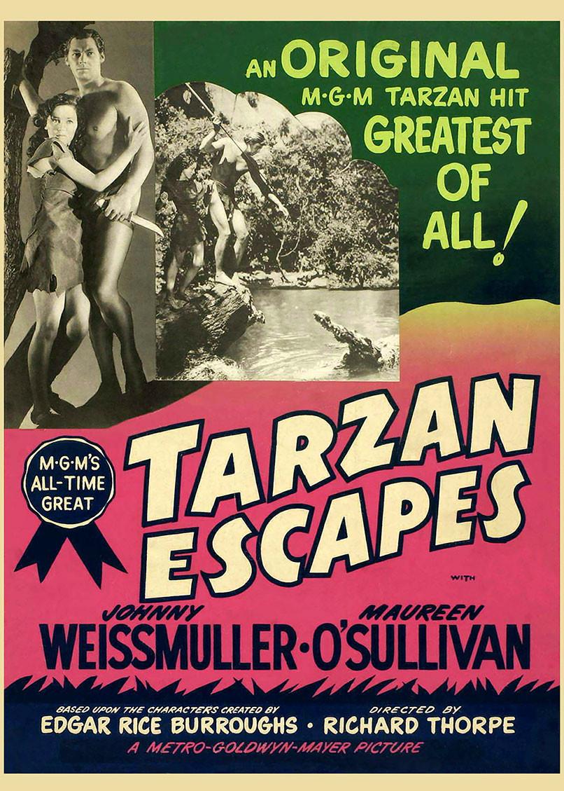 Tarzan Escapes 1954 Movie Poster