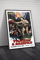 Tarzan The Magnificent 1960 Italian Movie Poster Framed
