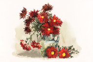 Chrysanthemums By Louise Blogett Field Floral Print