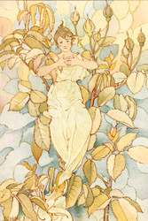 Flower Fairy I By Laura Coombs Hills Floral Print