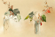 Leaves In Vase By  Elizabeth H Remington Floral Print