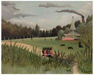 Henri Rousseau - Landscape Four Young Girls