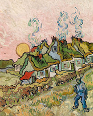 Vincent van Gogh - Houses and Figure