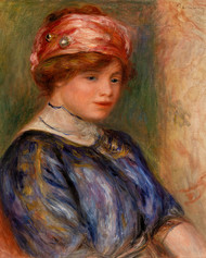 Pierre Auguste Renoir- Young Woman in Blue Bust