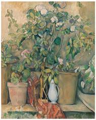 Paul Cezanne  - Terracotta Pots and Flowers