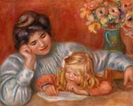 Pierre Auguste Renoir - Writing Lesson