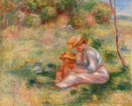 Pierre Auguste Renoir - Woman and Child in the Grass