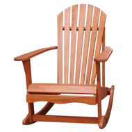 Solid Wood Adirondack Style Porch Rocker Rocking Chair ICAPCR169