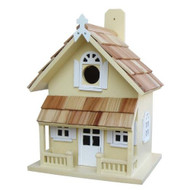 Yellow Victorian Cottage Wood Outdoor Birdhouse VCB3008Y