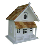 White Victorian Cottage Wooden Birdhouse - Fully Assembled WVCBH3799