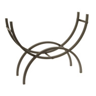 Crescent Tubular Steel Metal Firewood Log Storage Rack SHLR14362
