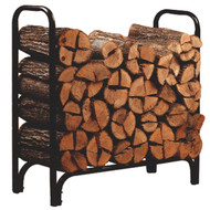 Black Powder Coated Steel Firewood Log Rack - 4ft PDOLR41965