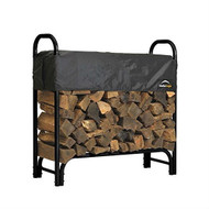 Outdoor Firewood Rack 4-Ft Steel Frame Wood Log Storage with Cover SLBCFR45235