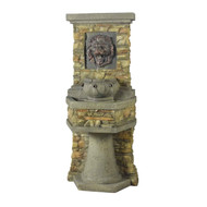 Indoor / Outdoor Water Fountain with Bronze Hued Lion Head LHIF30501
