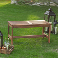 3-Ft Outdoor Backless Garden Bench in Dark Brown Wood Finish COWBD5198184191