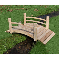 4-Ft Garden Bridge with Rails in Cedar Wood SCGB4FT1541