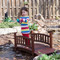 4-Ft Garden Bridge in Red Shorea Wood with Protective Oil Finish BLRGB54846-4