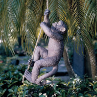 Outdoor Monkey Garden Statue Climbing Hemp Rope CMS875414