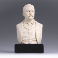 6-inch High Theodore Roosevelt Bust Statue Sculpture in White TRBGAC29951