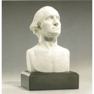 6-inch High George Washington Bust Statue Sculpture in White GWB239501