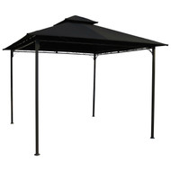 10-Ft x 10-Ft Outdoor Gazebo with Black Weather Resistant Fabric Canopy BGC20484762