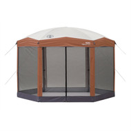 Instant 12ft x 10Ft Hexagon Screened Canopy Gazebo with Removable Insect Screen C12X106515818