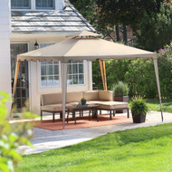 10-Ft x 10-Ft Outdoor Steel Frame Gazebo with Weather-resistant Vent Top Canopy TBTGB851981518