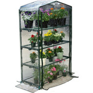 4-Tier Growing Rack Planter Stand Greenhouse with Thermal Cover JAGREEN88311