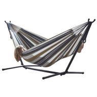 Desert Moon Pattern Cotton Hammock with 9-FT Steel Stand VDHDM12997