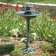 3-Tier Outdoor Bird Bath Water Fountain AGTBF49