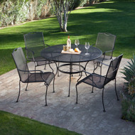 5-Piece Wrought Iron Patio Furniture Dining Set - Seats 4 WDS4S689