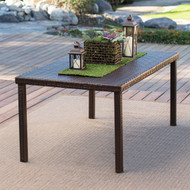 Dark Brown 63-inch Outdoor Resin Wicker Rectangular Patio Dining Table - Seats 6 CWBDS61891