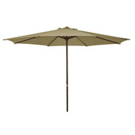 9 Foot Patio Umbrella with Beige Polyester Fabric Shade ABSU45019F