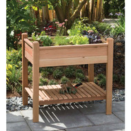 Elevated Garden Bed Planter Box in Unstained Western Red Cedar APEG13395