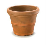 12-inch Diameter Round Planter, Rust color/Weather Resistant Poly Resin RBPR299151