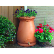 2-in-1 Terra Cotta 65-Gallon Rain Barrel Urn and Planter GIRW65GUP129