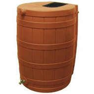 Terra Cotta 50-Gallon Rain Wizard Rain Barrel RW50GTCRB103