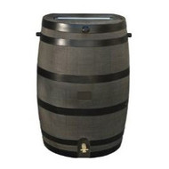 50-Gallon Wood Grain Rain Barrel with Brass Spigot RTSHA10636