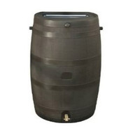 50-Gallon Brown Rain Water Collection Barrel with Brass Spigot RTSHA50GB100