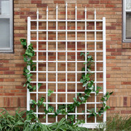 8 Ft Wall Mounted Trellis in White Vinyl - Made in USA DWMV18925