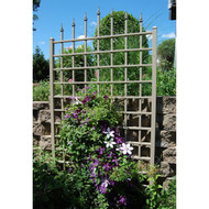 8 Ft Vinyl Trellis in Mocha Brown with Wall Mounting Hardware DWVTM11528