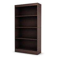 4 Shelf Bookcase in Dark Chocolate Finish WSAFSB64991-3