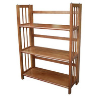 3-Shelf Folding Storage Shelves Bookcase in Honey Oak Finish CHOB6090-3