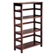 3-Shelf Wooden Shelving Unit Bookcase in Espresso Finish W3SE5599-3