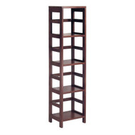 4-Shelf Narrow Shelving Unit Bookcase Tower in Espresso W4SUE5599-3