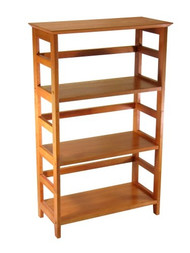 4-Tier Book-shelf Wood Bookcase in Honey Finish W4TBH7488-3